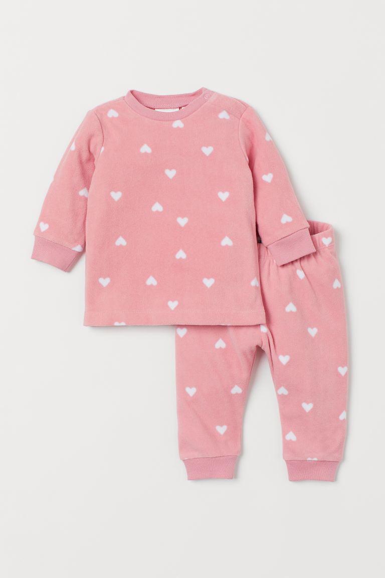 Patterned fleece pyjamas