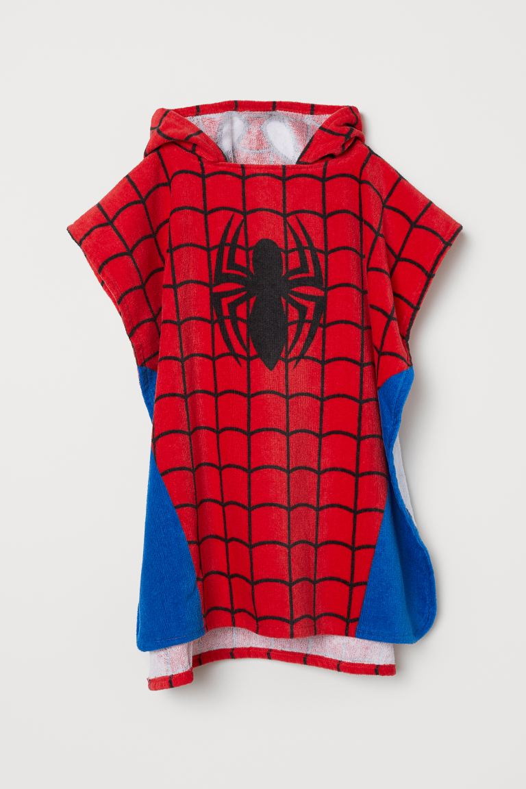 Hooded towel - Red/Spider-Man - Kids | H&M GB