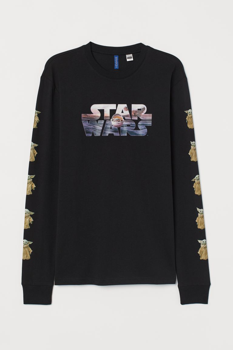 Printed Jersey Shirt - Black/Star Wars - Men | H&M CA