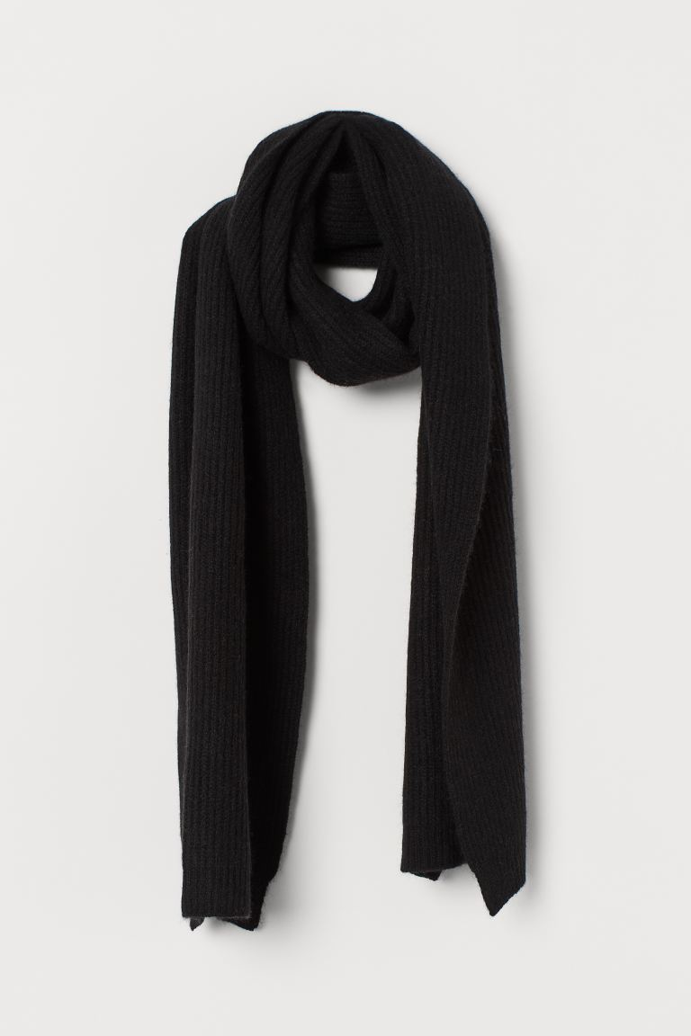 Cashmere Scarf - Black - Men | H&M US