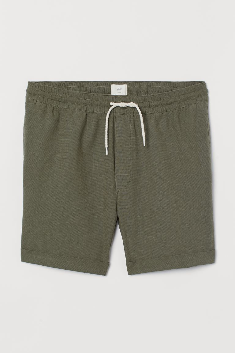 Shorts de algodón - Verde caqui - Men | H&M US
