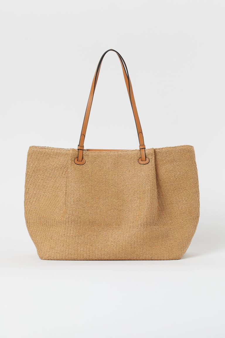Paper Straw Shopper - Beige - Ladies | H&M US