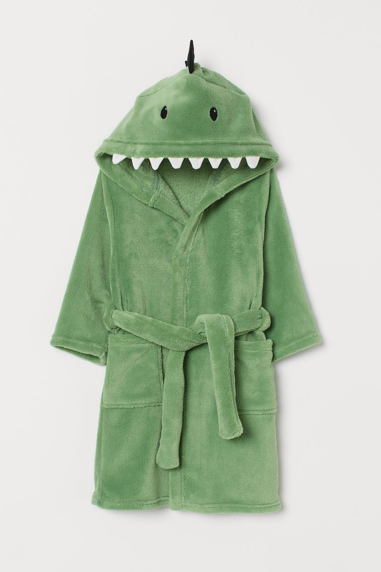 Bademantel - Hellgrün/Dinosaurier - Home All | H&M DE