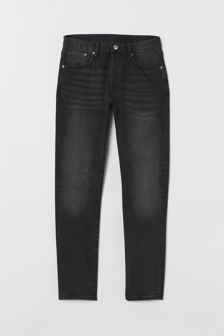 Slim Straight Jeans - Schwarz - Men | H&M AT