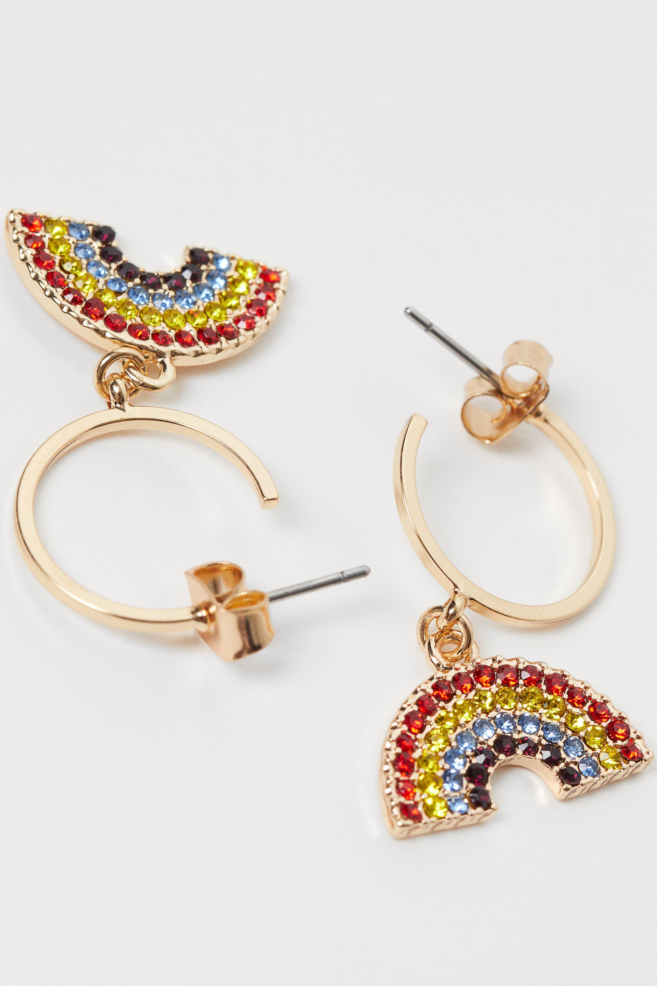 Rhinestone-decorated Earrings