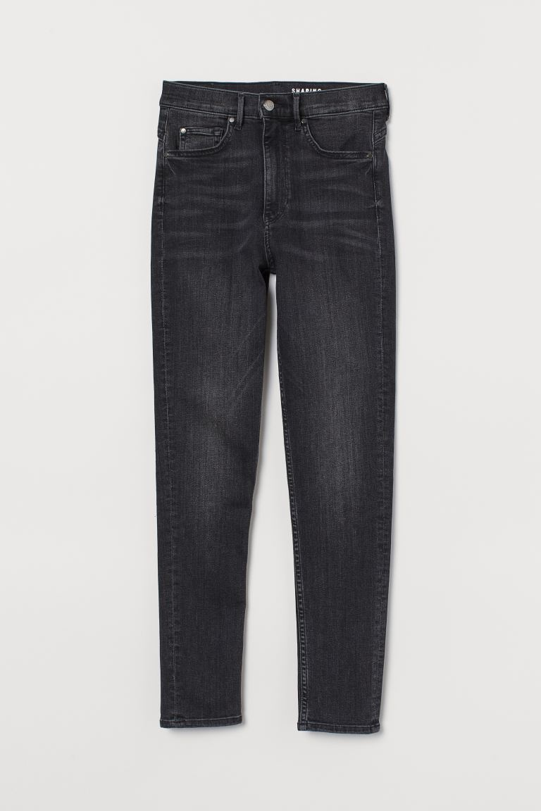 Shaping Ultra High Ankle Jeans - Negro/Washed out - MUJER | H&M ES