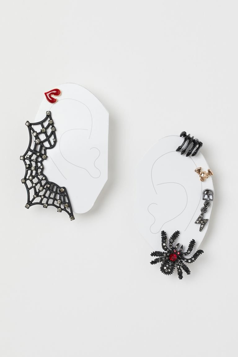 Earrings and Ear Cuffs - Black/spiderweb - Ladies | H&M CA