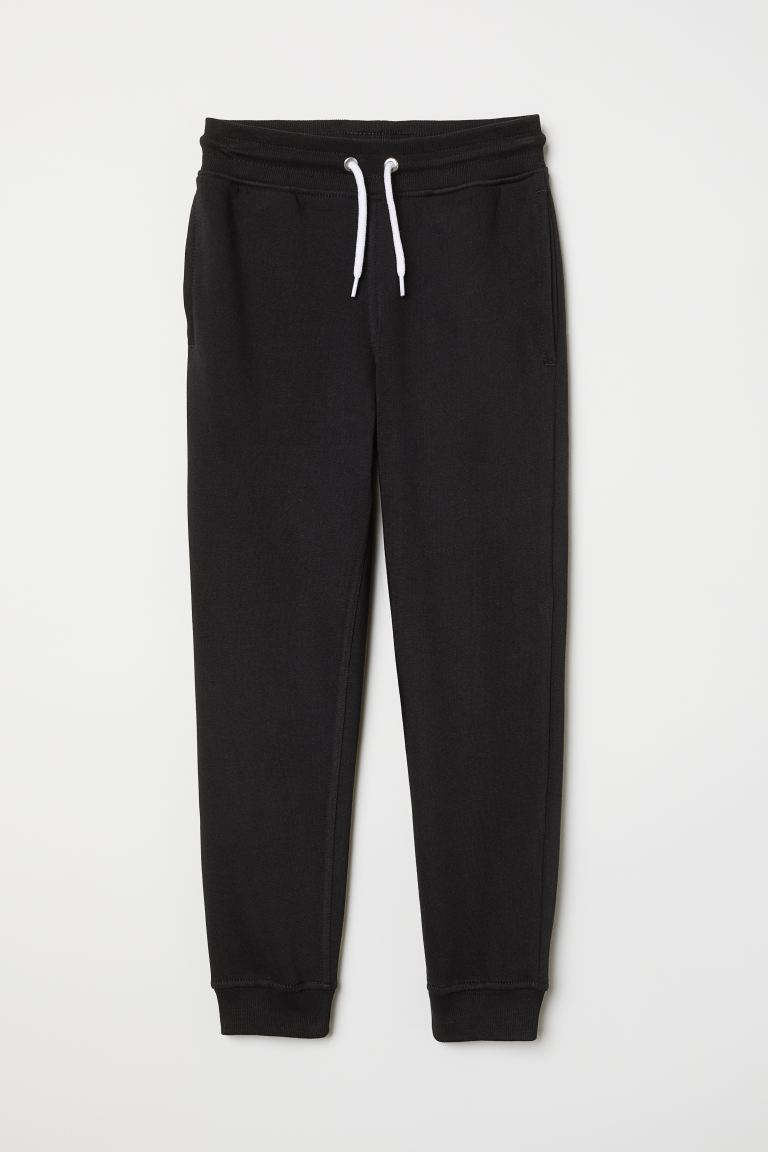 Brushed-inside joggers - Black - Kids | H&M GB