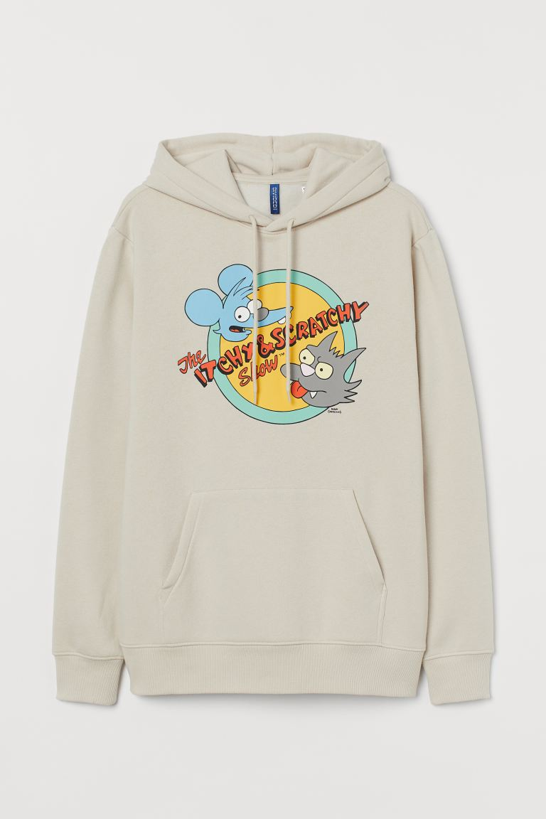 Sudadera Regular Fit - Beige claro/The Simpsons - Men | H&M US