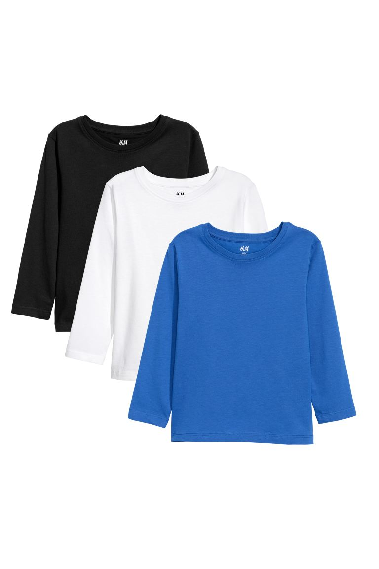 3-pack Jersey Shirts - Bright blue - Kids | H&M CA