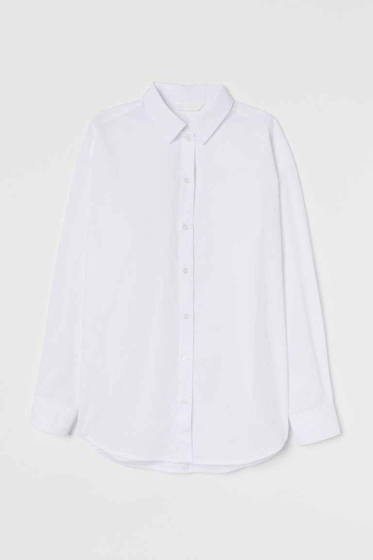 Cotton shirt - White - Ladies | H&M IE