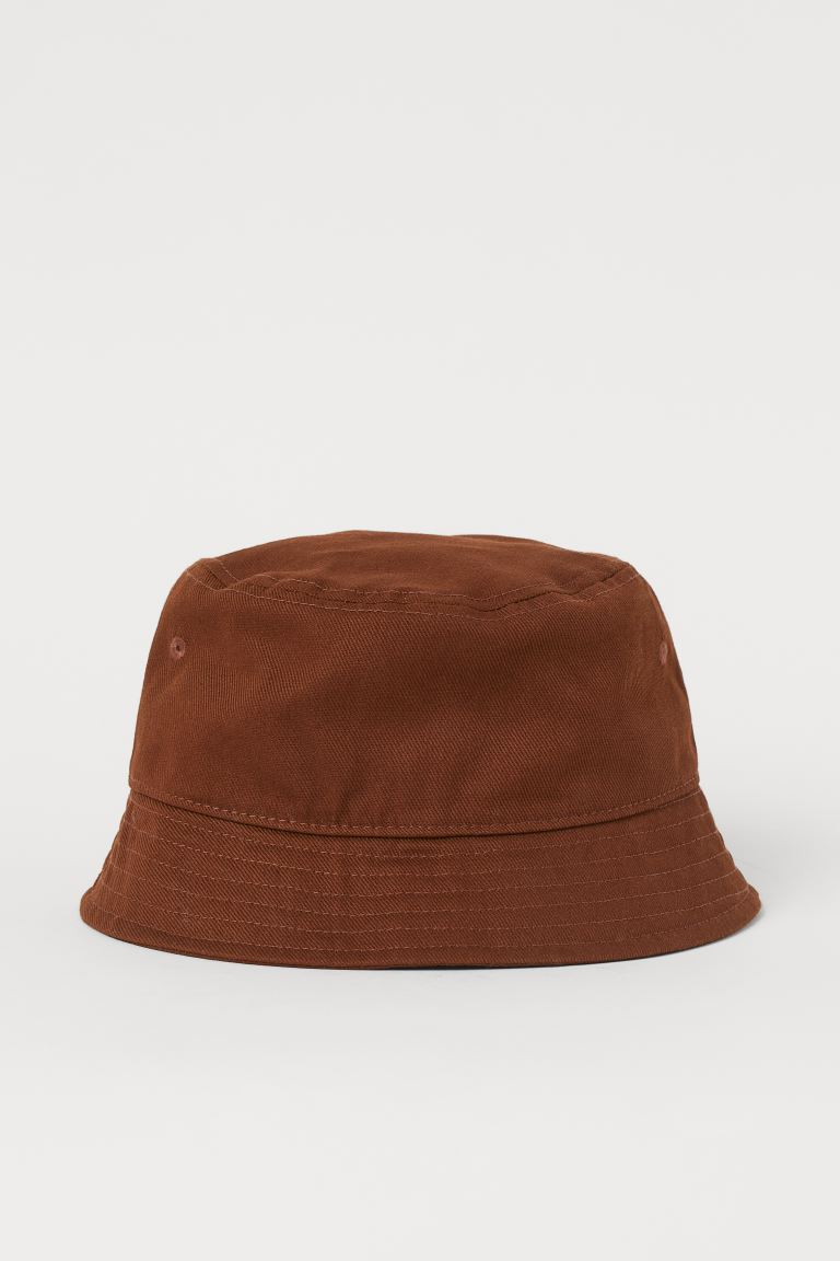 Cotton bucket hat - Brown - Men | H&M GB
