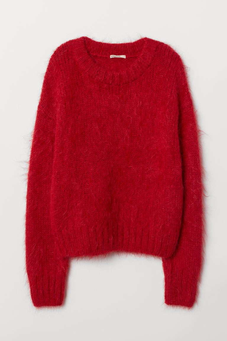 Knit Wool-blend Sweater - Red - Ladies | H&M US