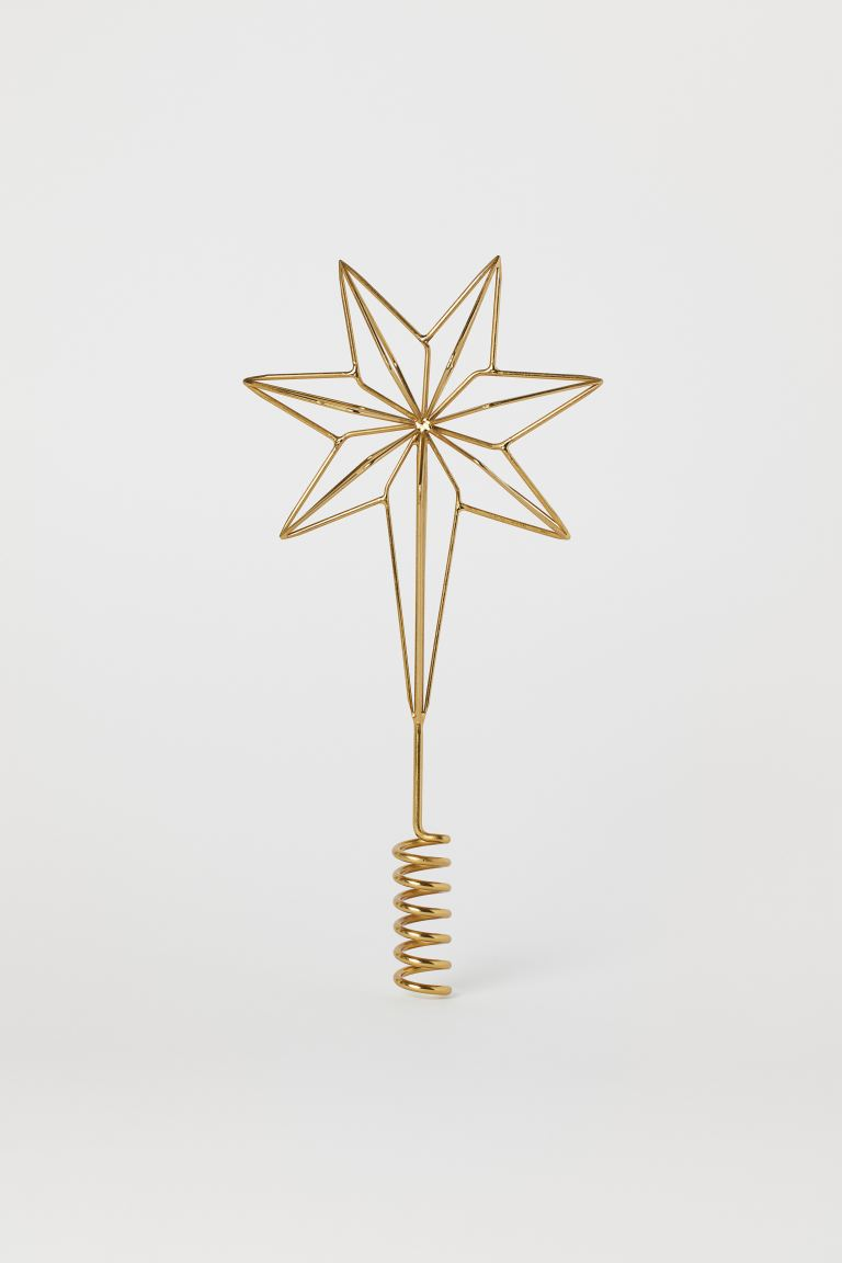 Christmas tree star - Gold-coloured - Home All | H&M GB