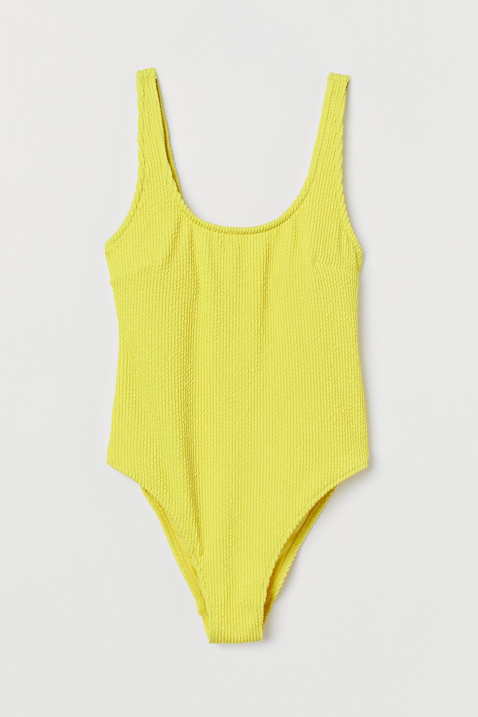 Swimsuit High leg h&m neon yellow