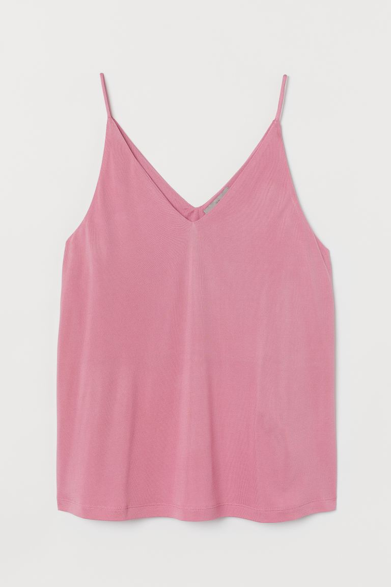 V-neck strappy top - Pink - Ladies | H&M