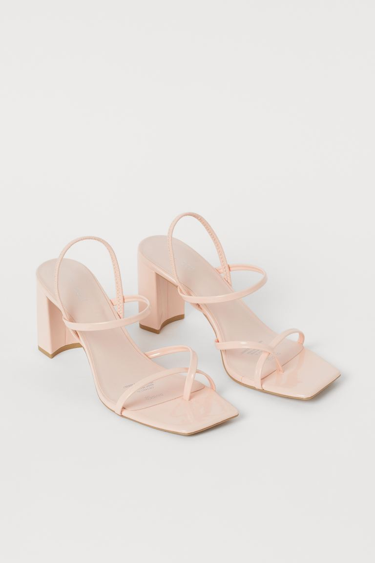 Block-heeled sandals - Light pink - Ladies | H&M