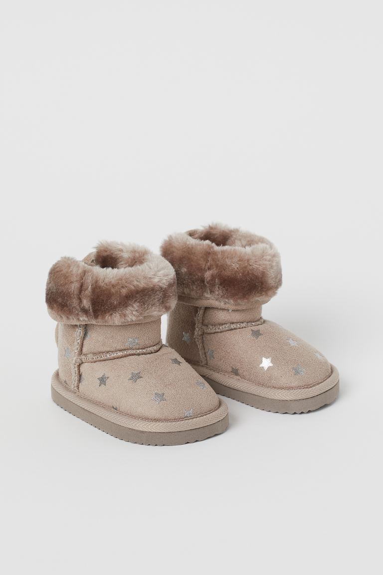 Warm-lined boots - Light mole/Stars - Kids | H&M