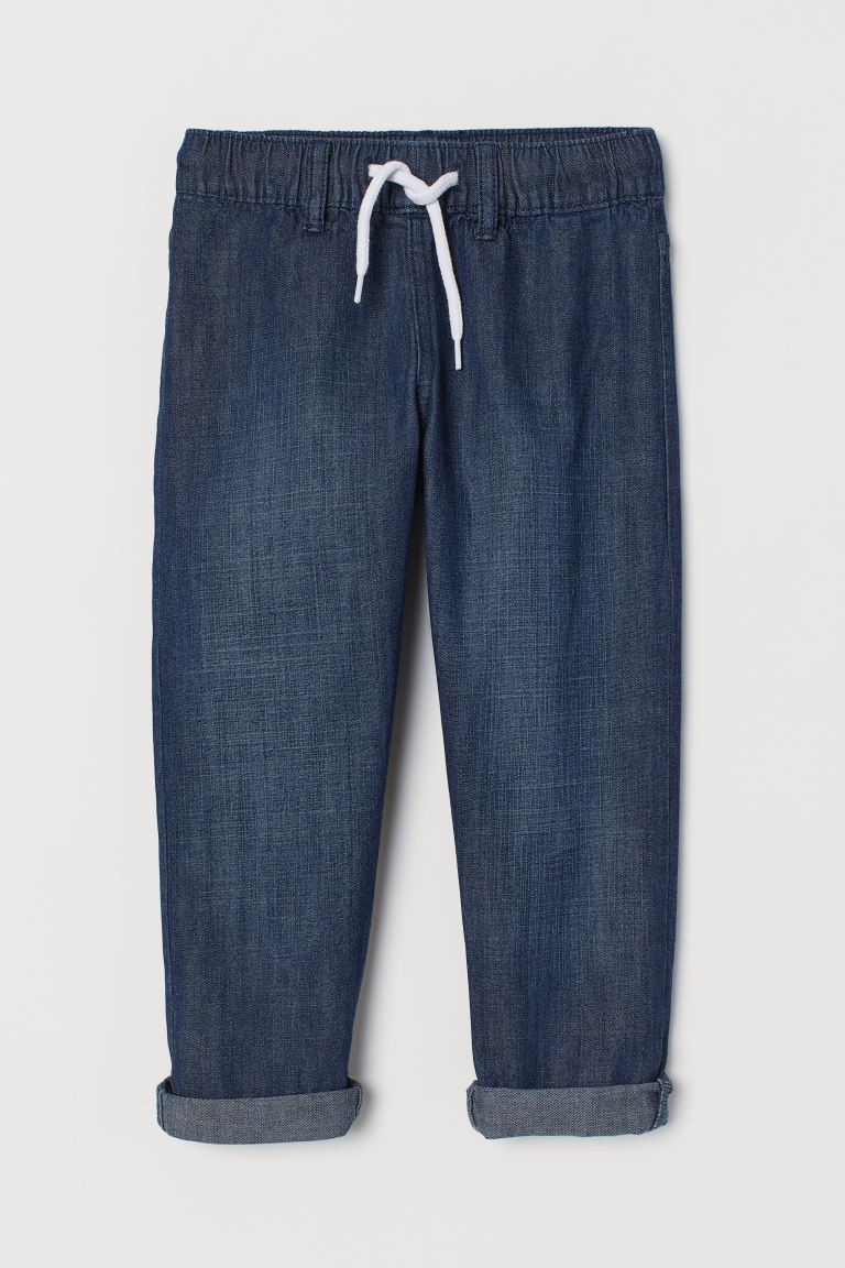 Denim Joggers - Dark denim blue - Kids | H&M US