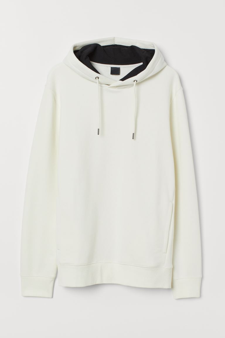 Hooded top - Natural white - Men | H&M IN