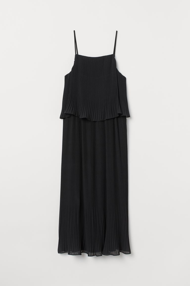 Pleated Dress - Black - Ladies | H&M US