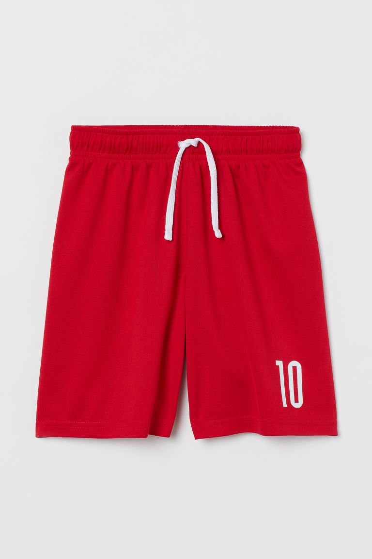 Short de football - Rouge/blanc - ENFANT | H&M FR