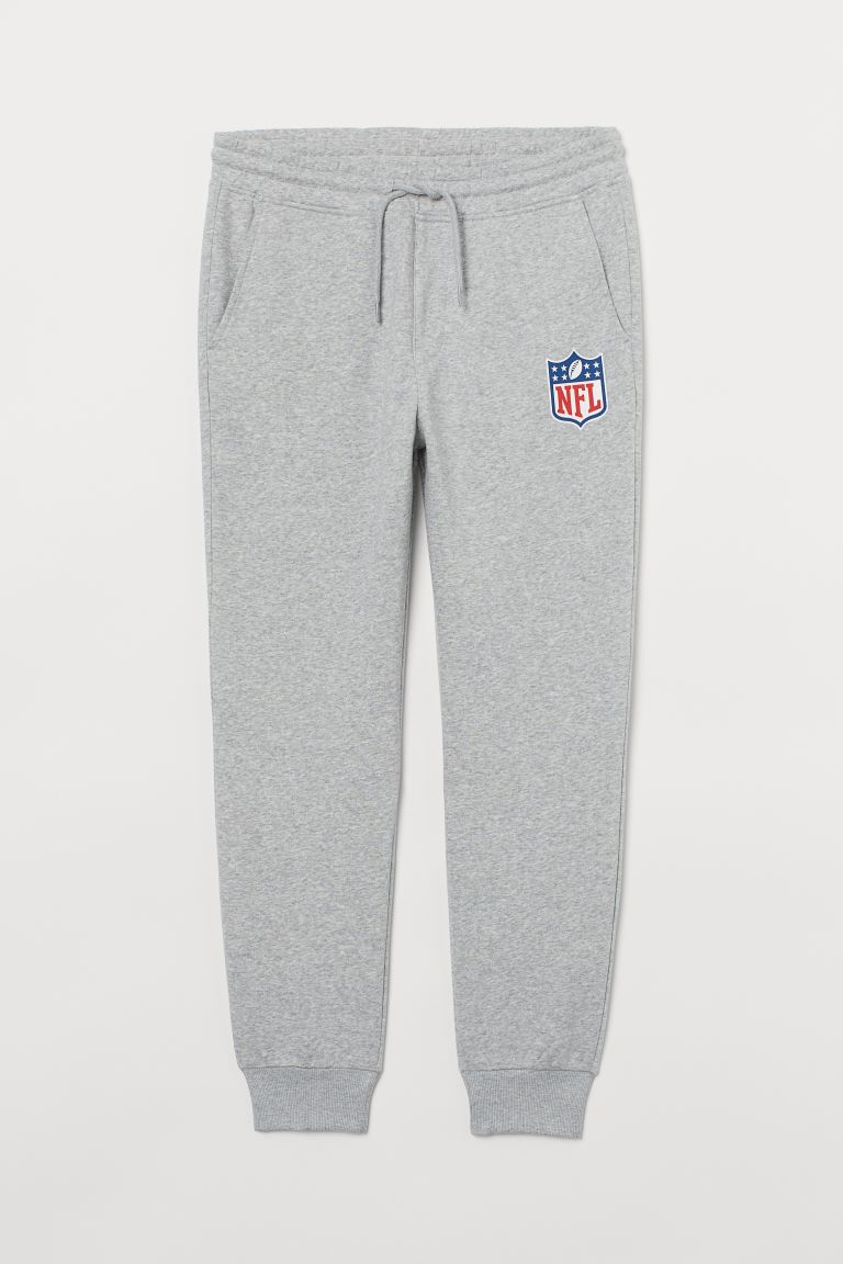 Printed Joggers Light Grey Marl Nfl Men H M Gb
