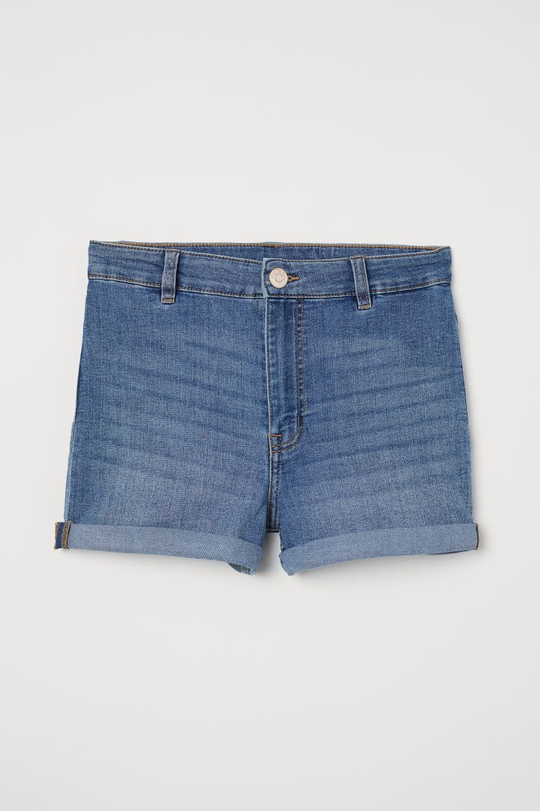 Shorts High Waist - Denimblå - DAM | H&M FI