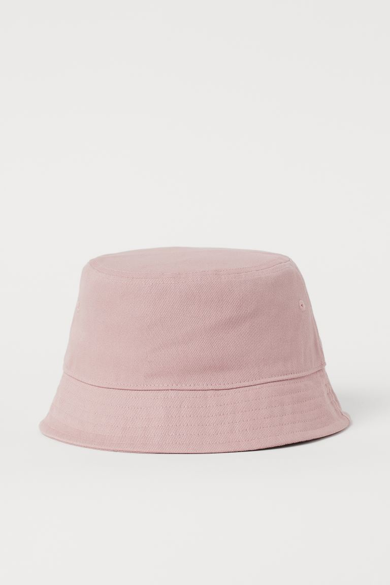 Cotton bucket hat - Light pink - Men | H&M