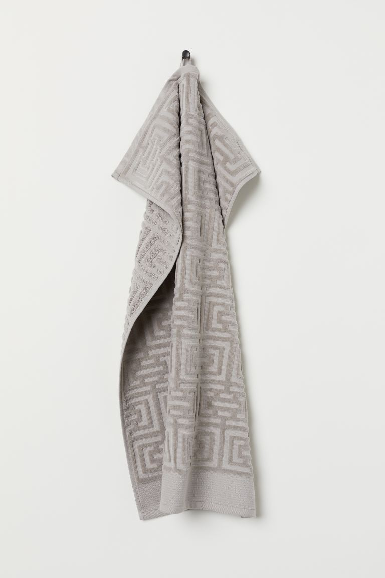 Serviette jacquard - Taupe clair - Home All | H&M FR
