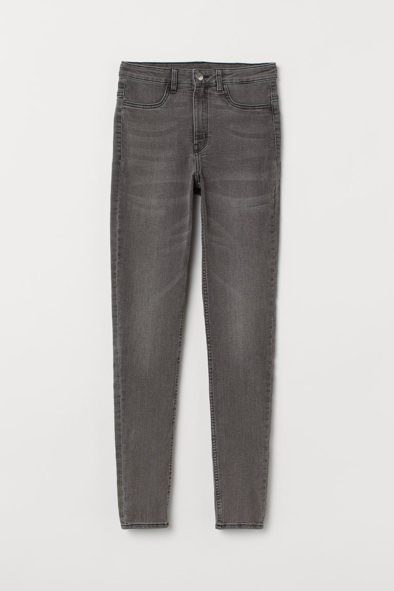 Super Skinny High Jeans - Gray denim - Ladies | H&M CA