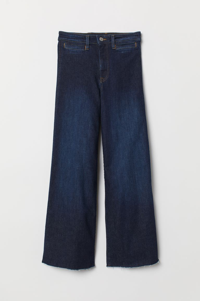 Culotte High Ankle Jeans - Dunkelblau - Ladies | H&M AT