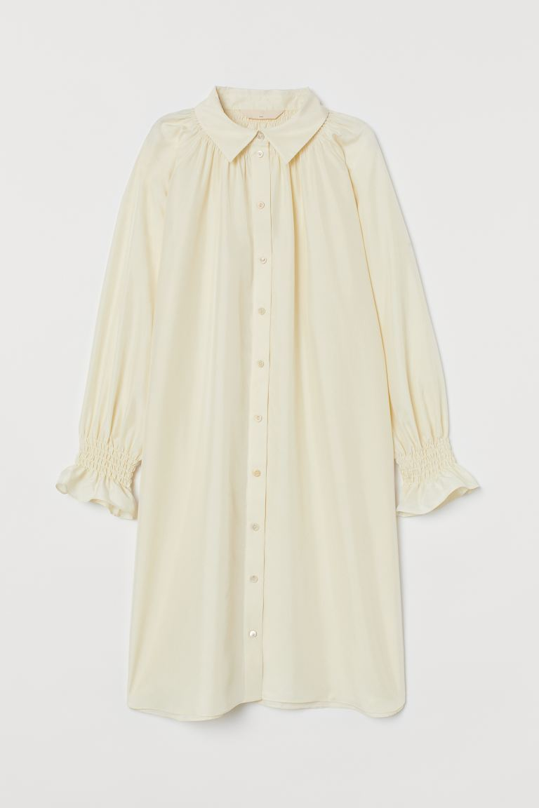 Tunika i silke - Cream - DAME | H&M NO