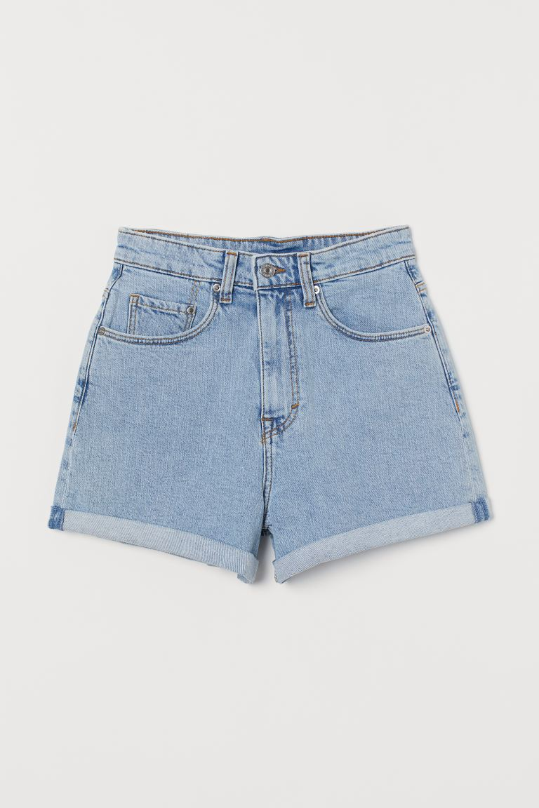 Mom Shorts High Waist - Ljus denimblå - DAM | H&M FI