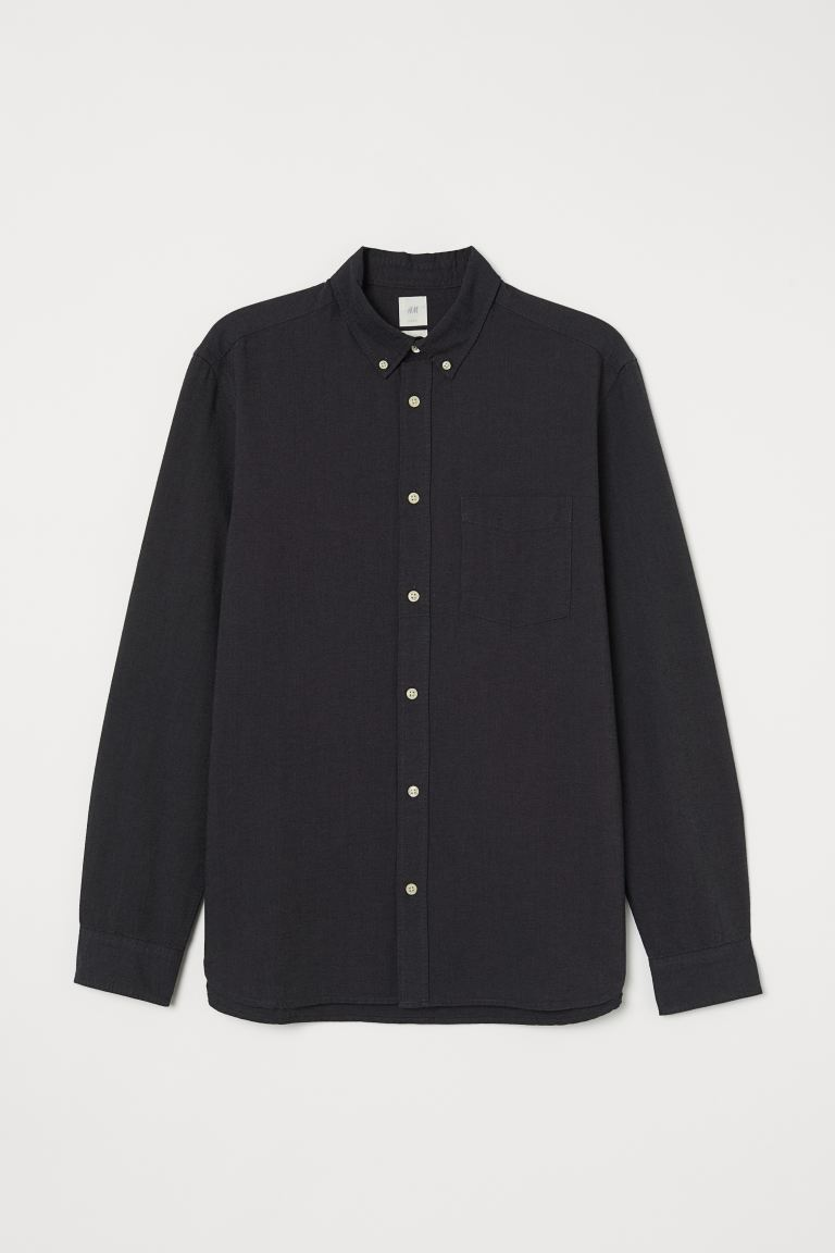 Oxford shirt Regular Fit - Anthracite grey - Men | H&M