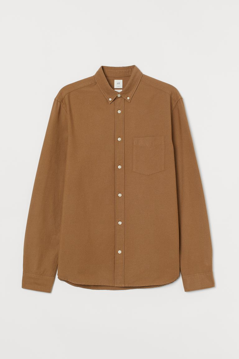 Oxford shirt Regular Fit - Dark beige - Men | H&M