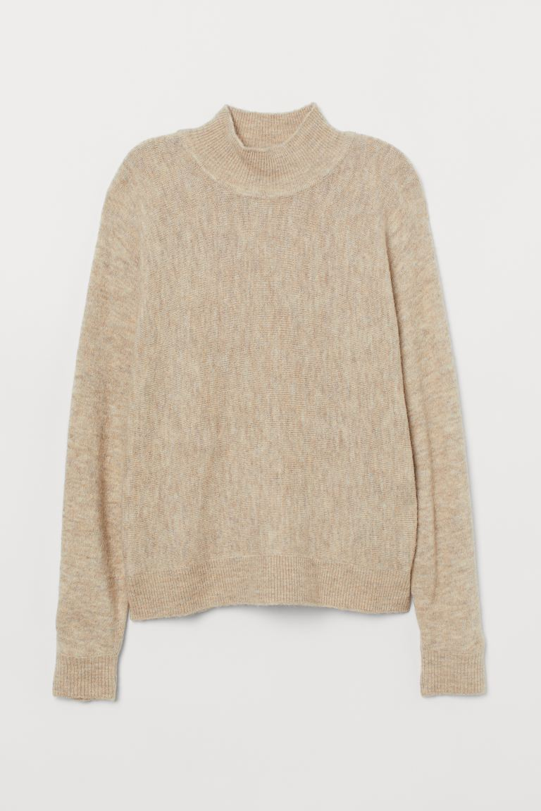 Fine-knit Sweater - Light beige melange - Ladies | H&M CA