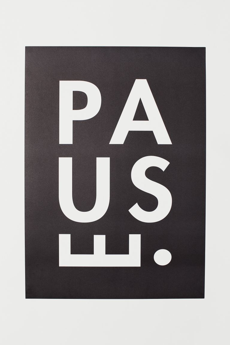 Poster - Zwart/pause - HOME | H&M BE