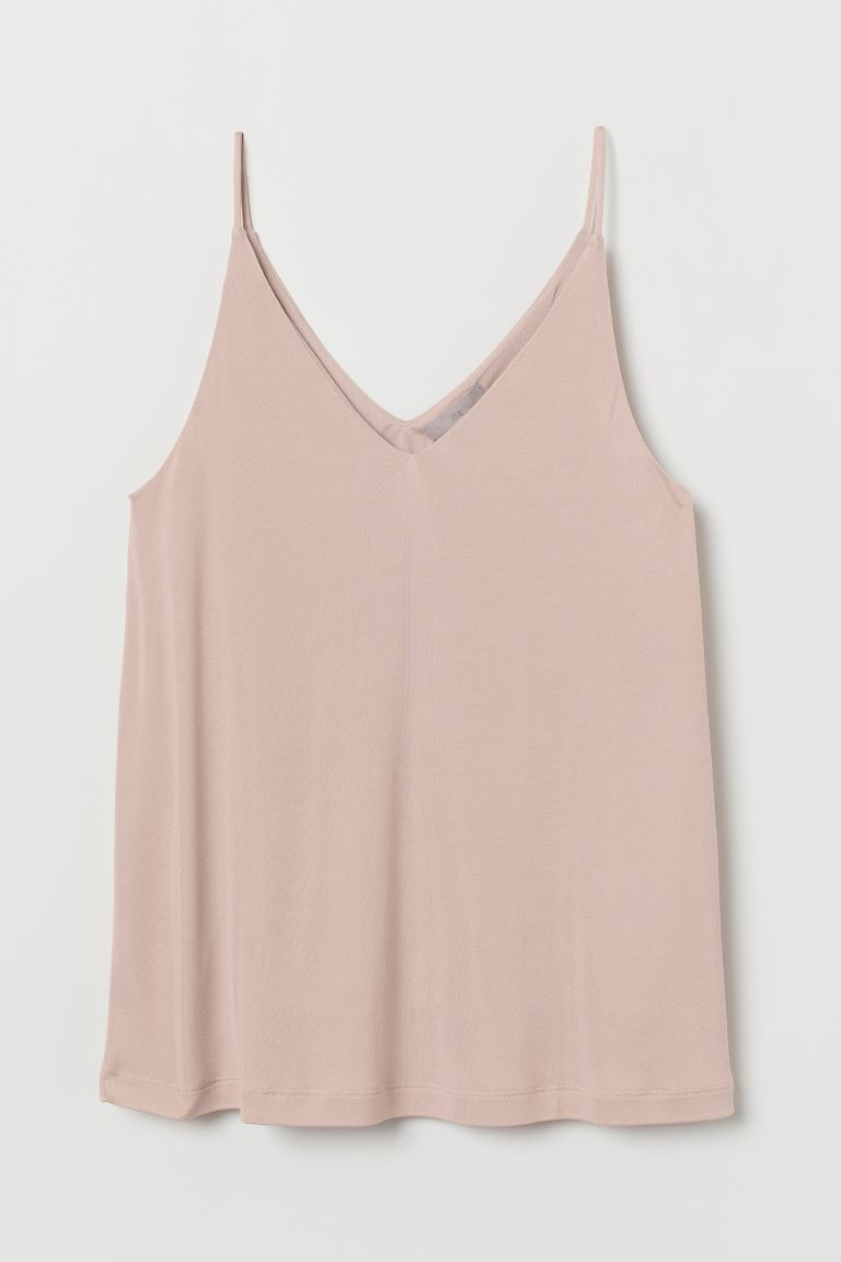 V-neck strappy top - Powder pink - Ladies | H&M
