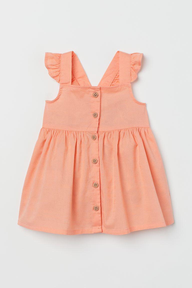 Robe en coton - Abricot - ENFANT   H&M FR