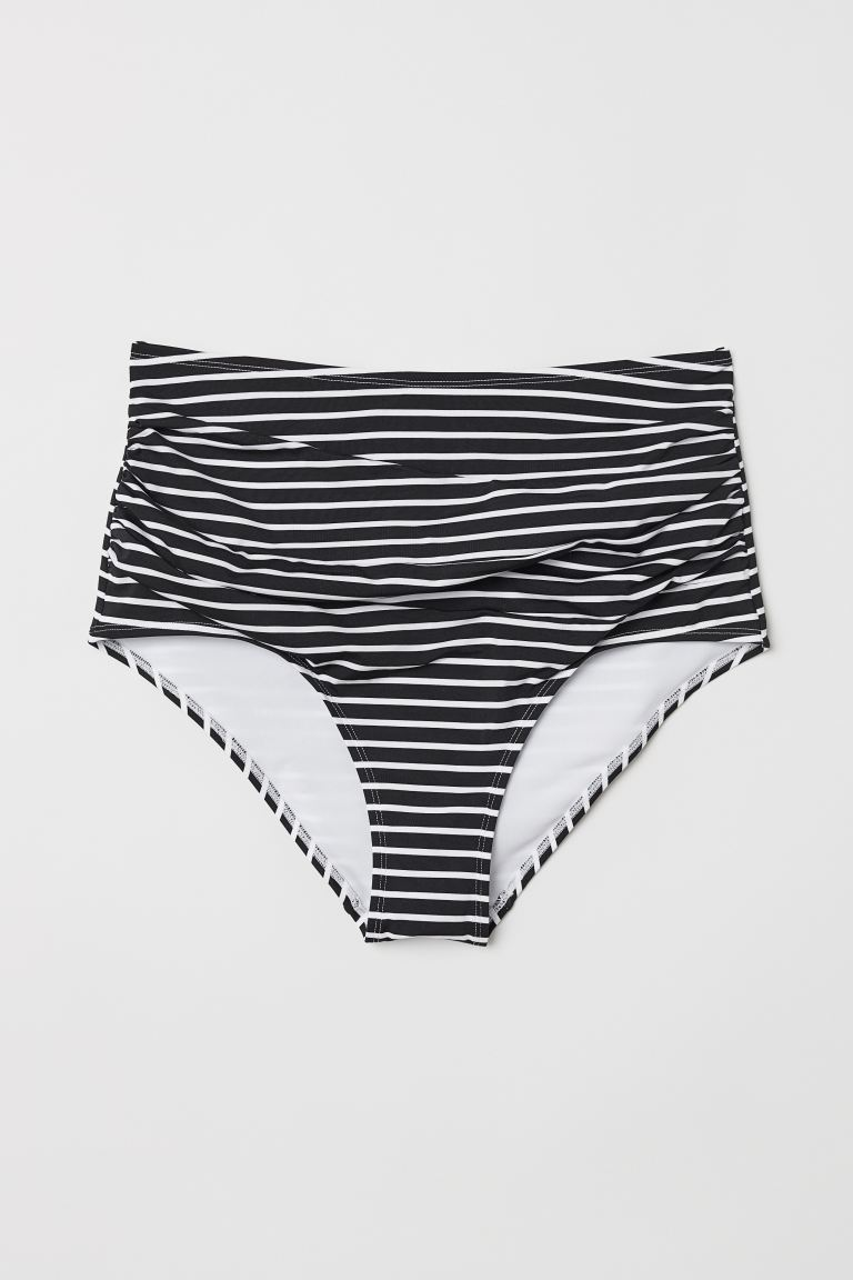 H&M+ Slip bikini High waist - Nero/righe - DONNA | H&M IT