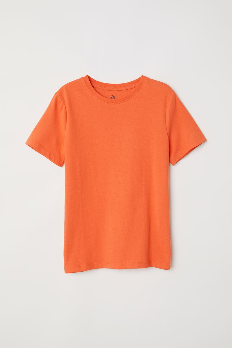 Cotton T-shirt - Orange - Kids | H&M GB
