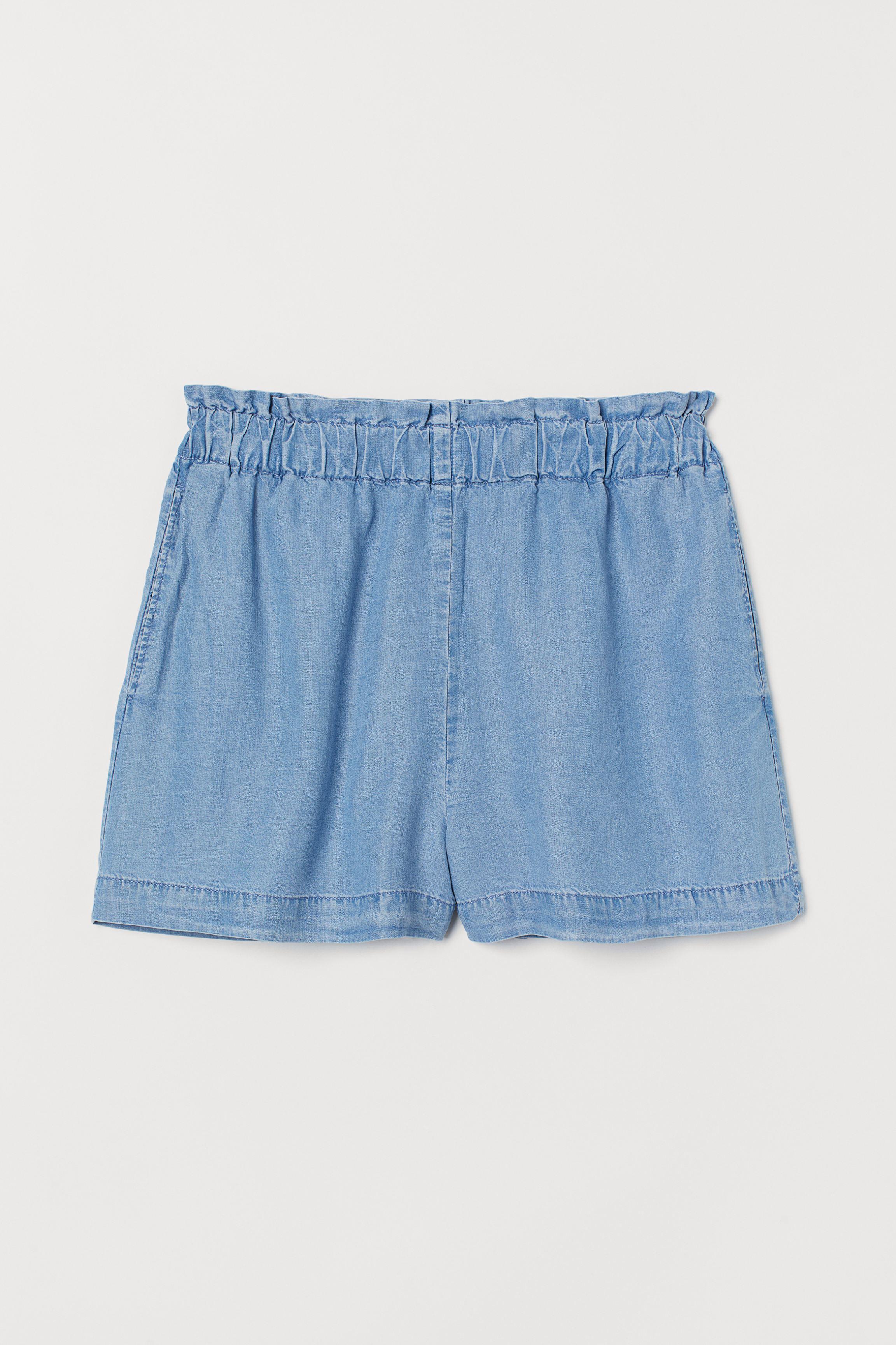 Pull-on Lyocell-blend Shorts