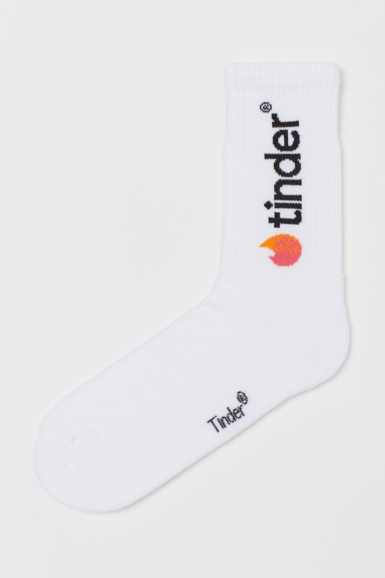 Socks - White/Tinder - Men | H&M IE