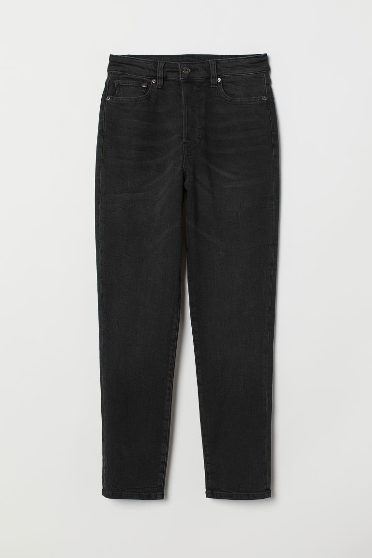 Mom High Ankle Jeans - Noir/washed out - FEMME | H&M FR