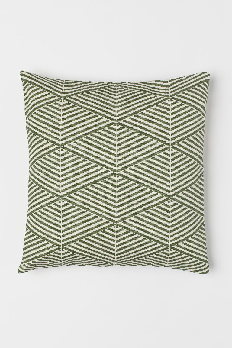 Canvas Cushion Cover - Moss green - Home All | H&M US