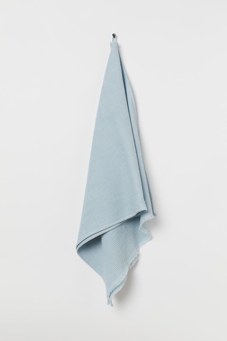 Waffled Bath Towel - Light blue - Home All | H&M US