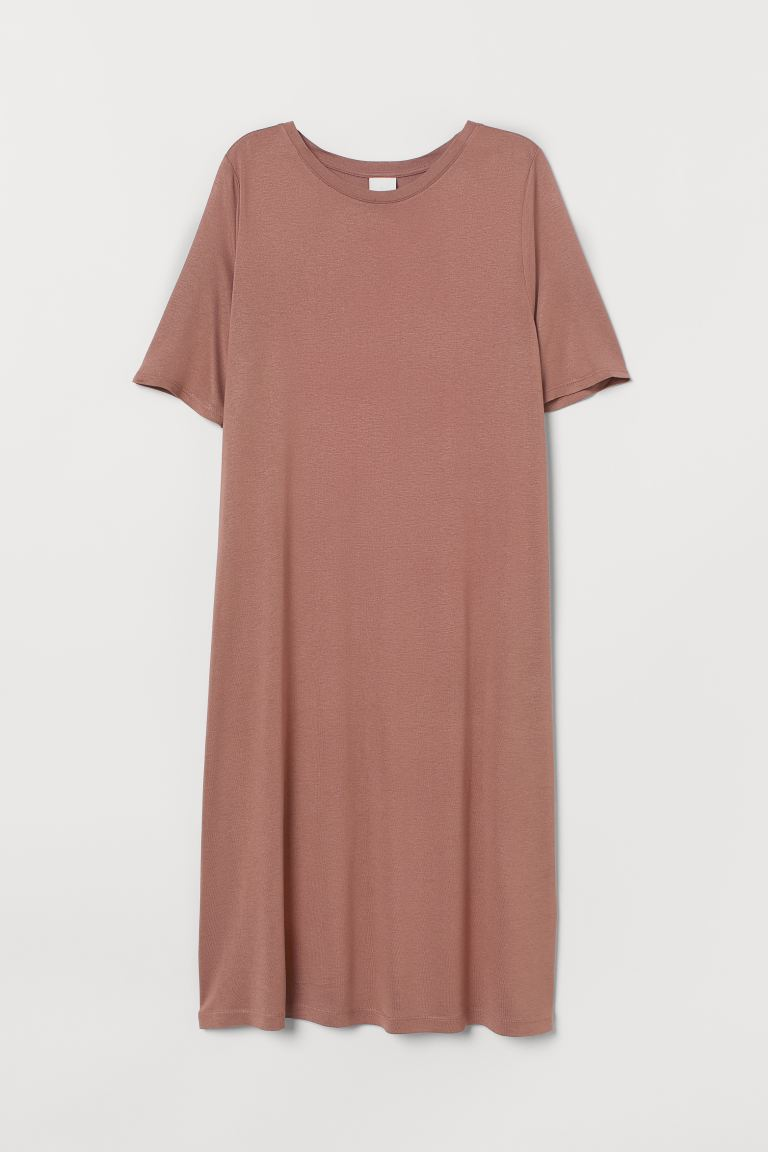 Short T-shirt dress - Dark old rose - Ladies | H&M