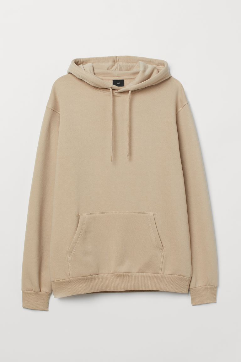 Sudadera con gorro Relaxed Fit - Beige - Men | H&M US