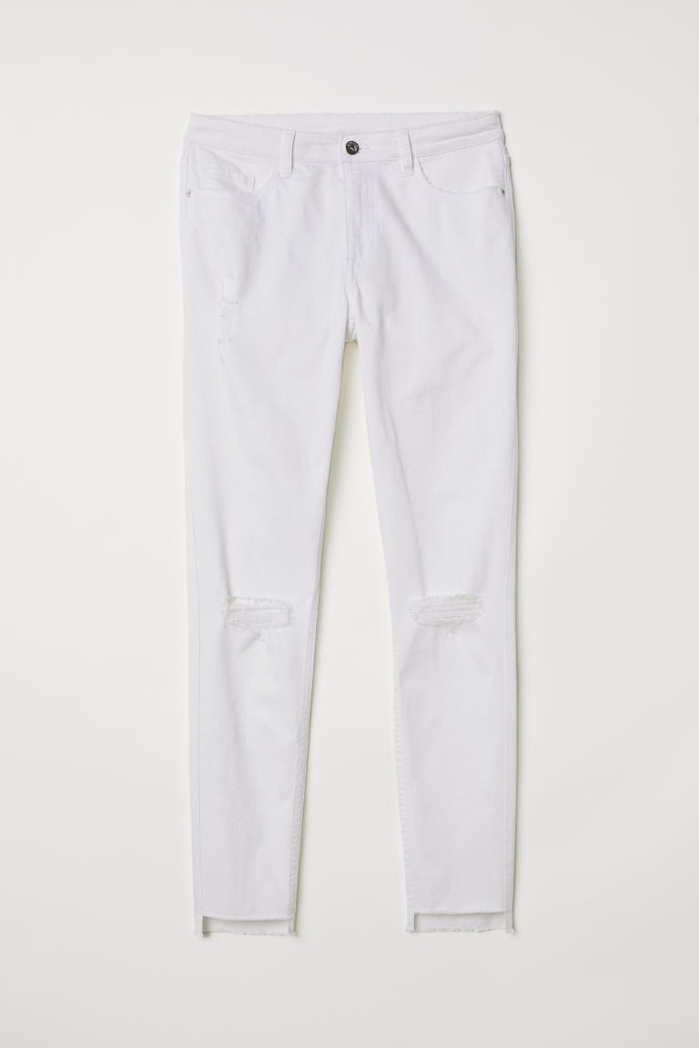 Skinny Regular Ankle Jeans - Denim bianco - DONNA | H&M IT